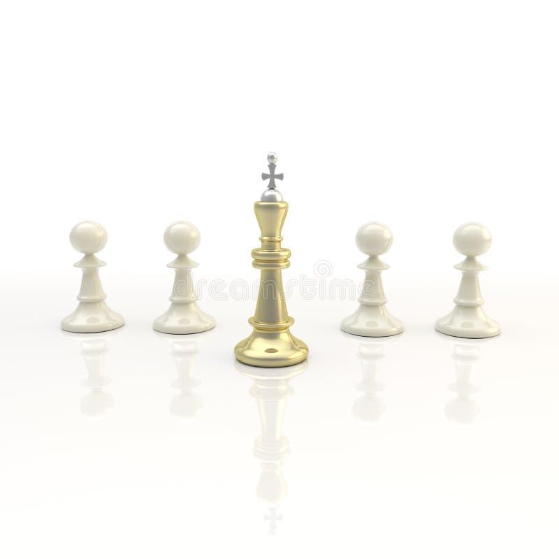 Przywódctwo: lekki szachowy tło ilustracji