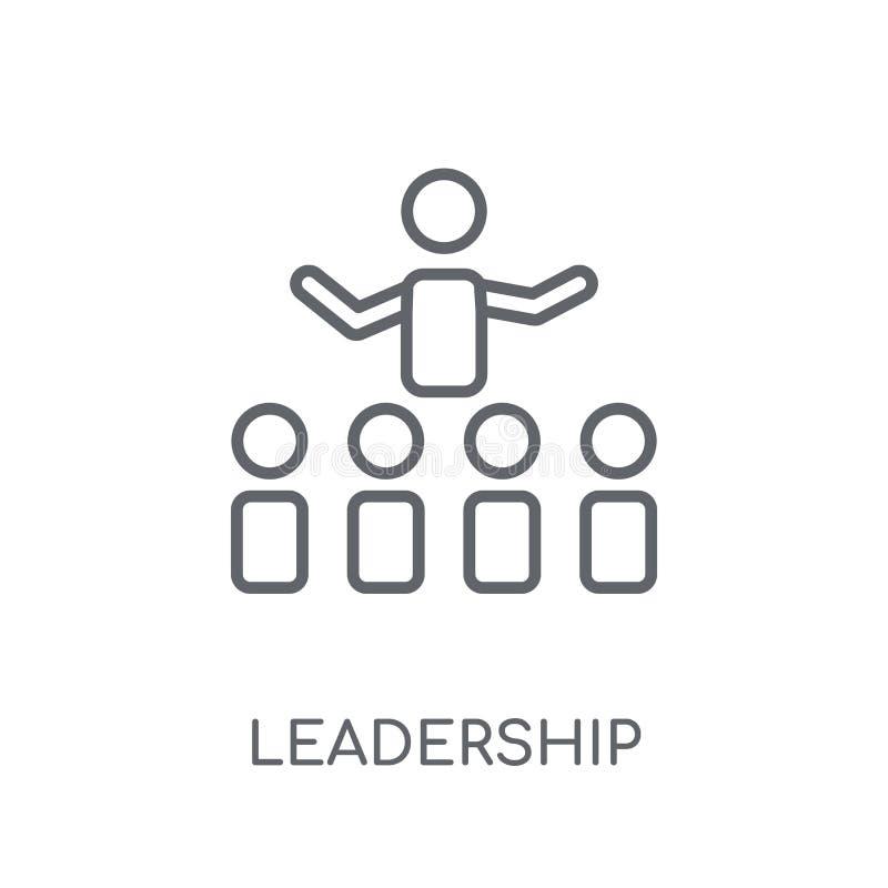 Przywódctwo liniowa ikona Nowożytny konturu przywódctwo logo pojęcie o royalty ilustracja