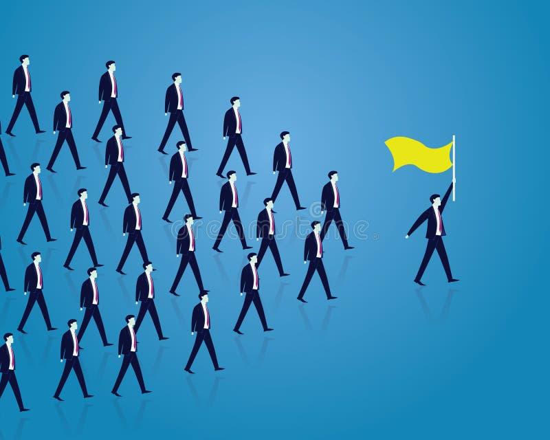 Przywódctwo pojęcie Kierownik Wiodąca drużyna pracownicy Iść Naprzód ilustracji