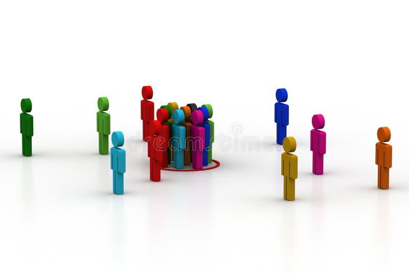 Przywódctwo pojęcie, lider i drużyna, ilustracja wektor