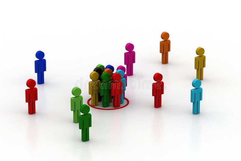 Przywódctwo pojęcie, lider i drużyna, royalty ilustracja