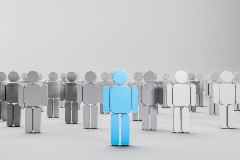Przywódctwo pojęcie, ludzie postaci ilustracja wektor