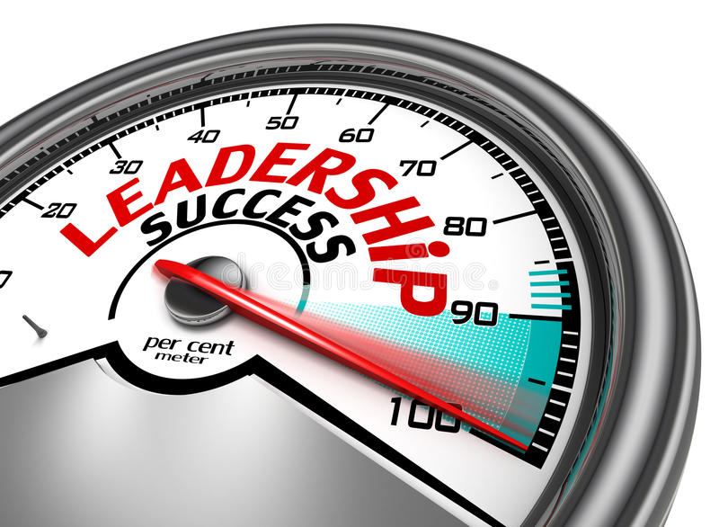 Przywódctwo sukcesu konceptualny metr ilustracji