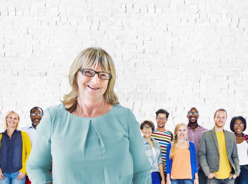 Przywódctwo Trenuje różnorodność Drużynowego trenera pojęcie obrazy royalty free
