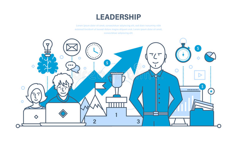 Przywódctwo, umiejętności, kariera sukces i edukacja dokonuje nowych wzrosty, royalty ilustracja