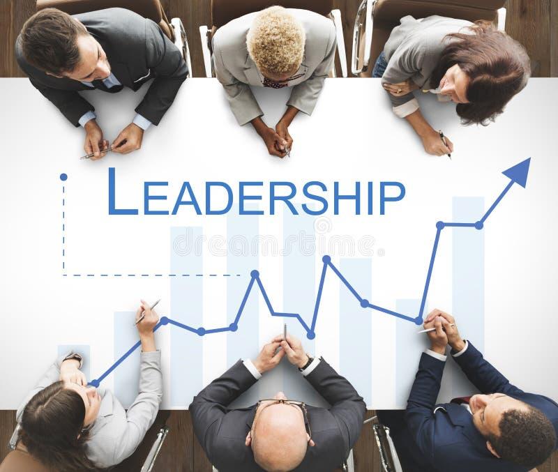 Przywódctwo umiejętności zarządzania lidera poparcia pojęcie obrazy royalty free