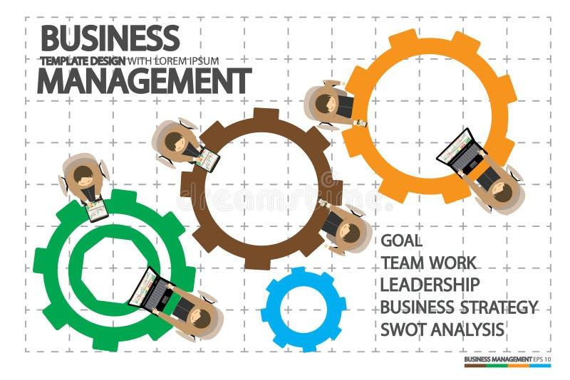 Przywódctwo w biznesie z ludzkimi zarządzań pojęciami ilustracji