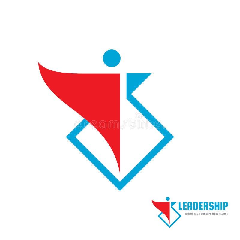 Przywódctwo - wektorowa biznesowa loga szablonu pojęcia ilustracja Abstrakcjonistycznego ludzkiego charakteru kreatywnie znak Cze royalty ilustracja