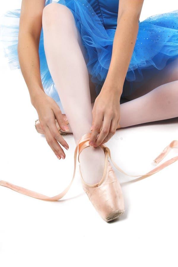 przywiązać balerina butów fotografia royalty free