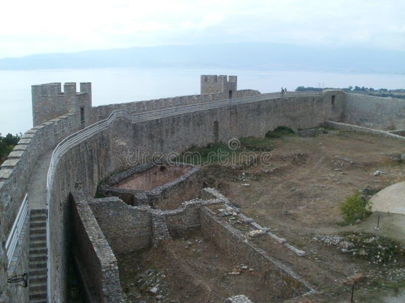 Przywrócenie Ohrid forteca obraz stock