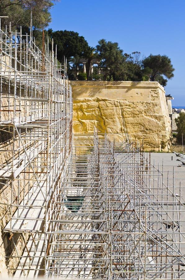 Przywrócenie pracy, Valletta Malta obraz royalty free