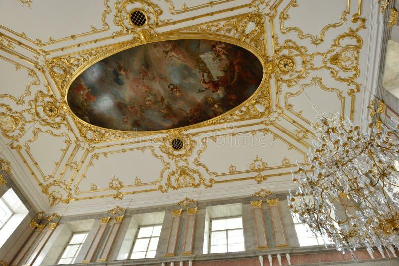 Przywrócenie wnętrza Marmurowy pałac zdjęcia stock
