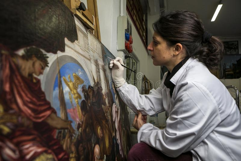 Przywrócić fabryka Włochy, Turyn - obraz royalty free