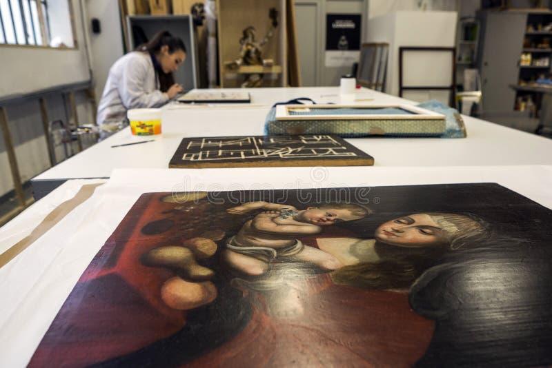 Przywrócić fabryka Włochy, Turyn - obrazy stock