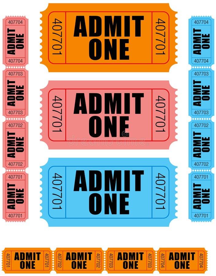 przyznaj 1 jeden bilety royalty ilustracja