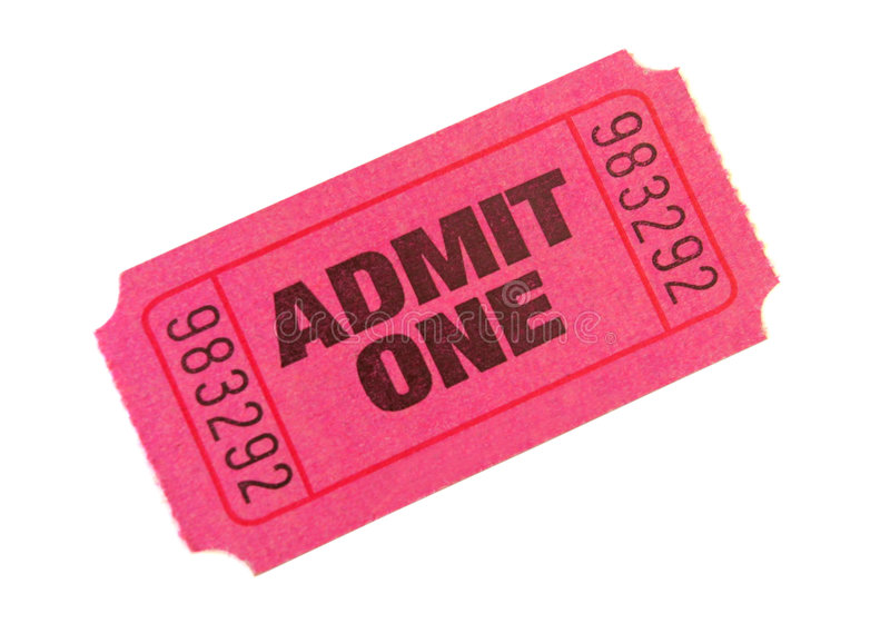 przyznaj bilet obrazy stock