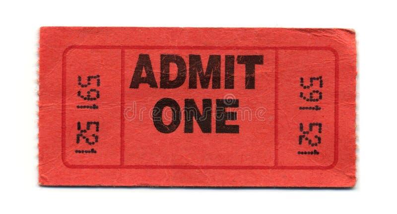 przyznaj bilet zdjęcie stock