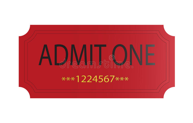 przyznaje czerwień jeden bilet ilustracji