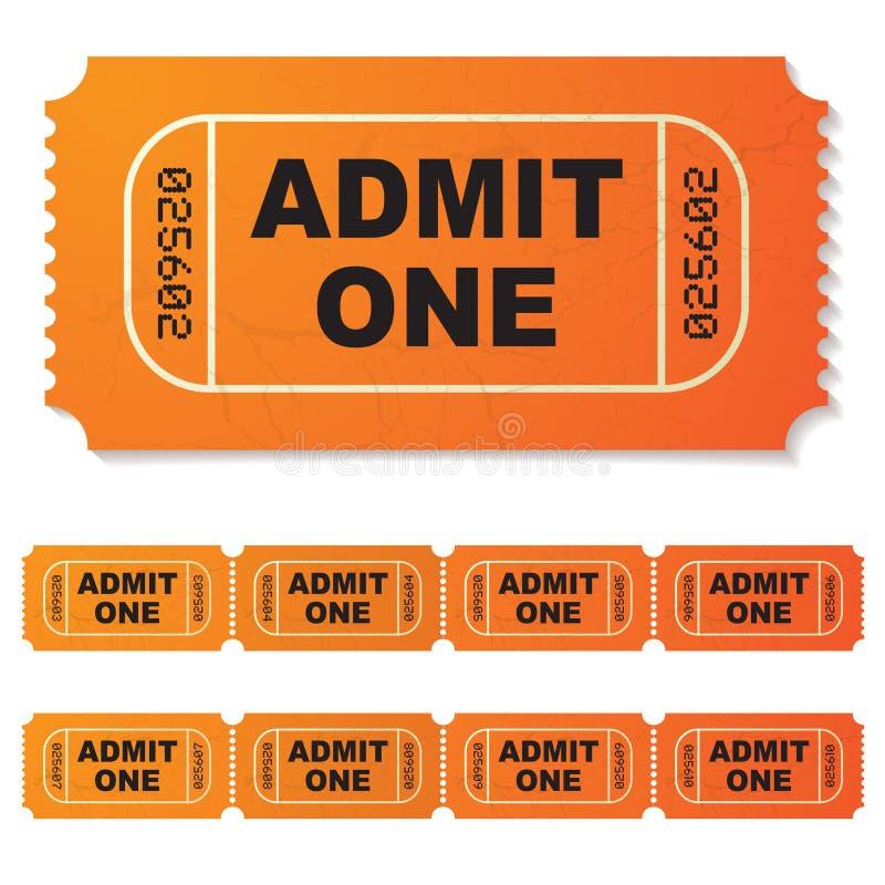 przyznaje jeden bilet royalty ilustracja