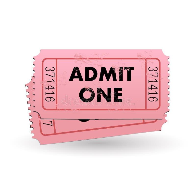 przyznaje jeden bilet ilustracja wektor