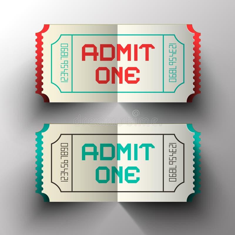Przyznaje Jeden Tapetuje Rżniętych Wektorowych bilety ilustracja wektor