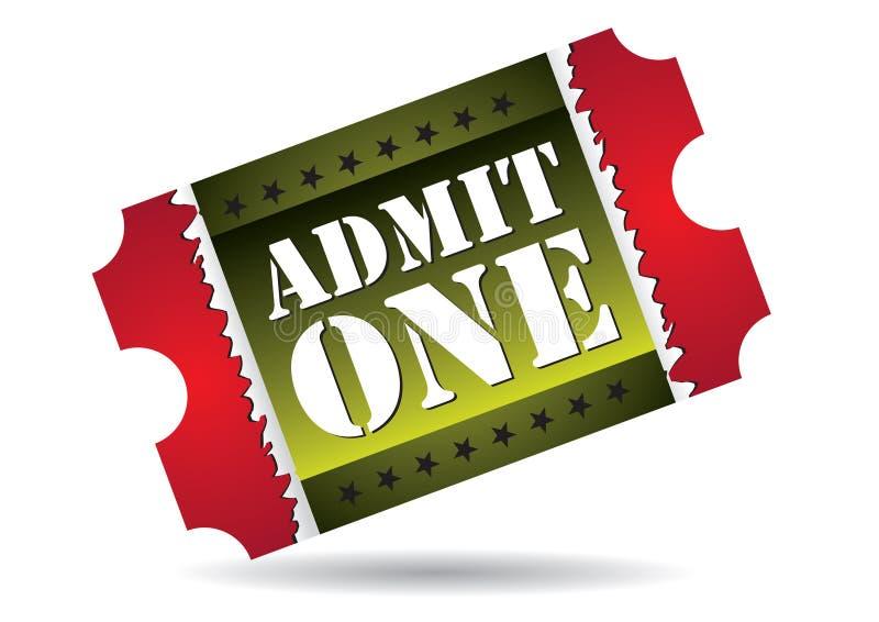 przyznaje kino bilet jeden ilustracja wektor