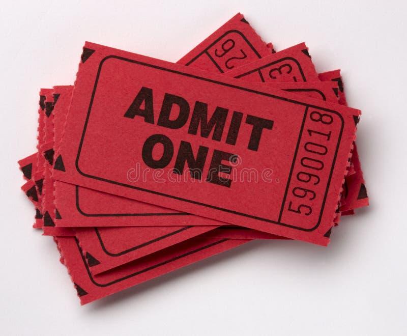 przyznaje palowych bilety jeden zdjęcia stock