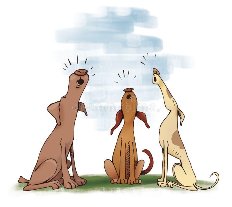 psów target2040_0_ ilustracja wektor
