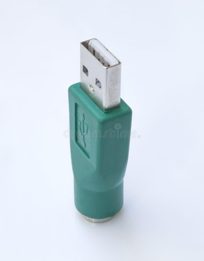 PS2 ao adaptador do USB fotografia de stock royalty free