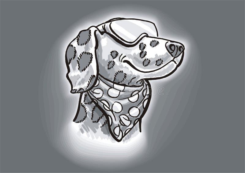 psa dalmatian mody royalty ilustracja