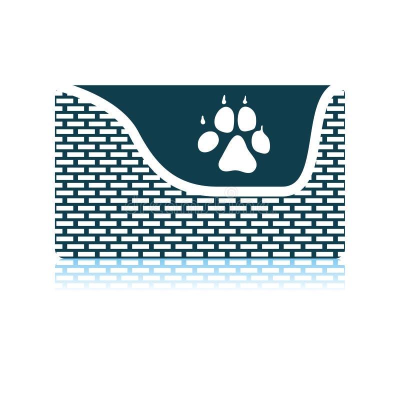 Psa sen kosza ikona ilustracji