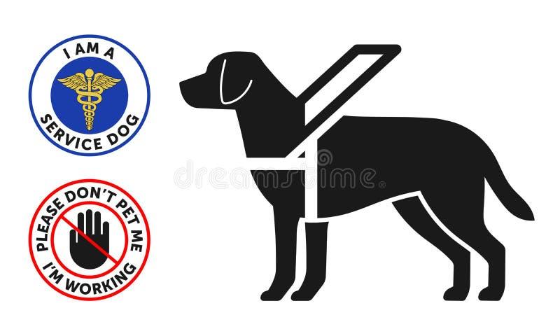 Psa symbol z dwa round usługa psa odznakami ilustracja wektor
