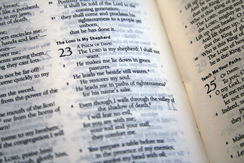 Download Psalm 23 Bible Verse Stock Photos - Image: 7577843