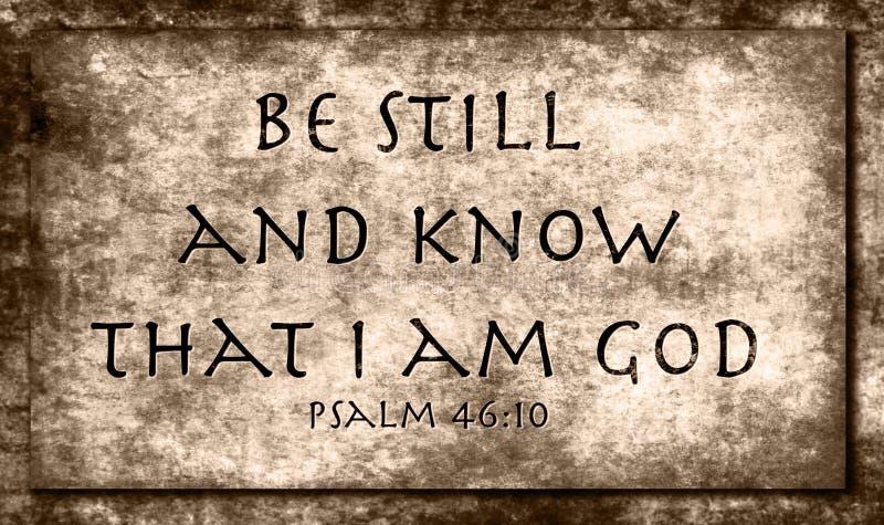 Psalm46:10 royaltyfria bilder