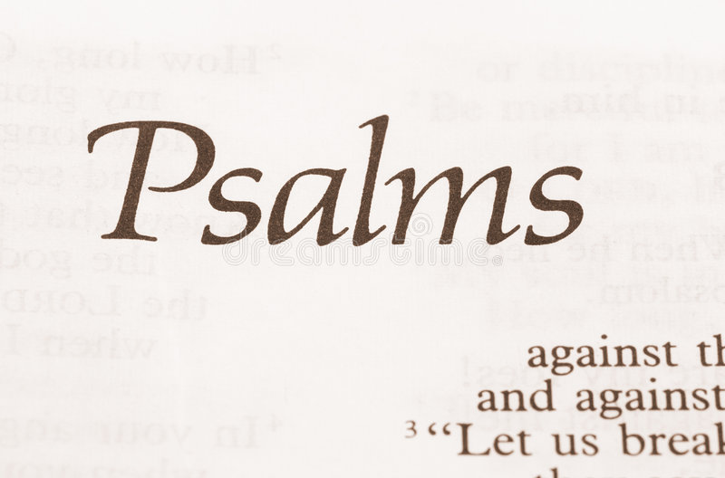 Psalms. The collection of 150 psalms in the Old Testament (sepia toned royalty free stock images