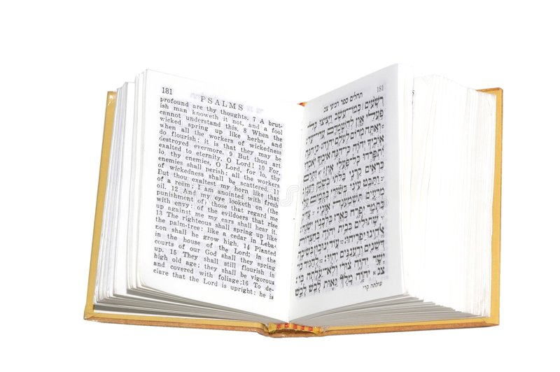 Psalms. Open on white background royalty free stock image