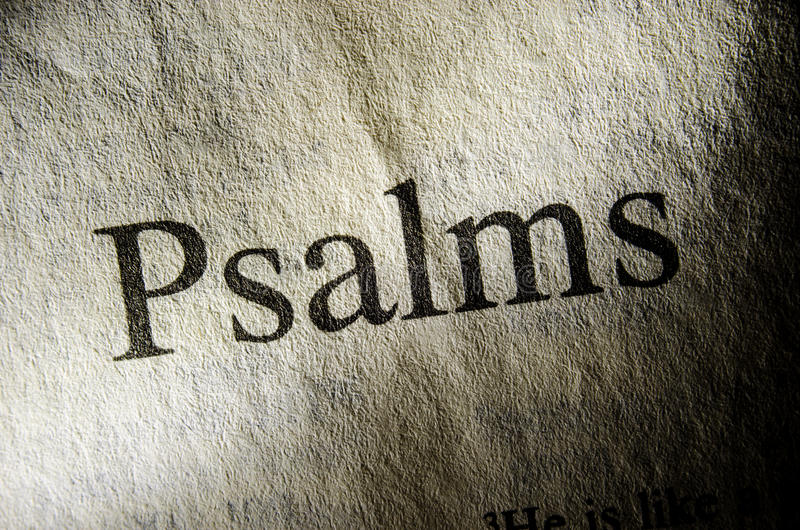 Psalms text header. Of page from Bible royalty free stock images