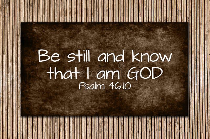Psalmu 46:10 obrazy royalty free