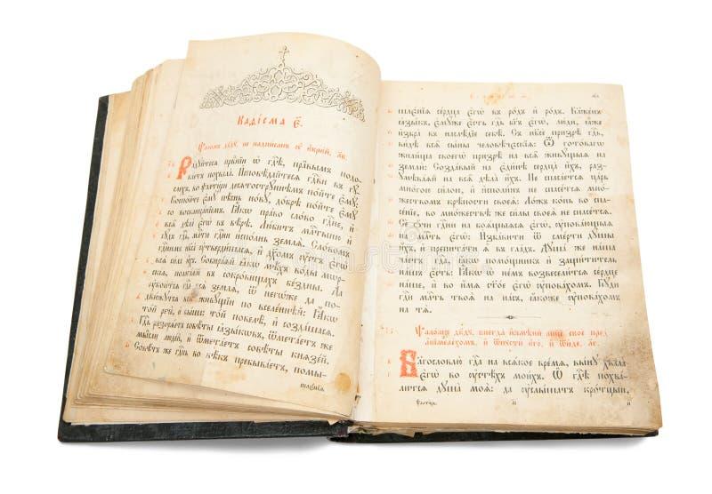 Psalter antico del libro immagine stock