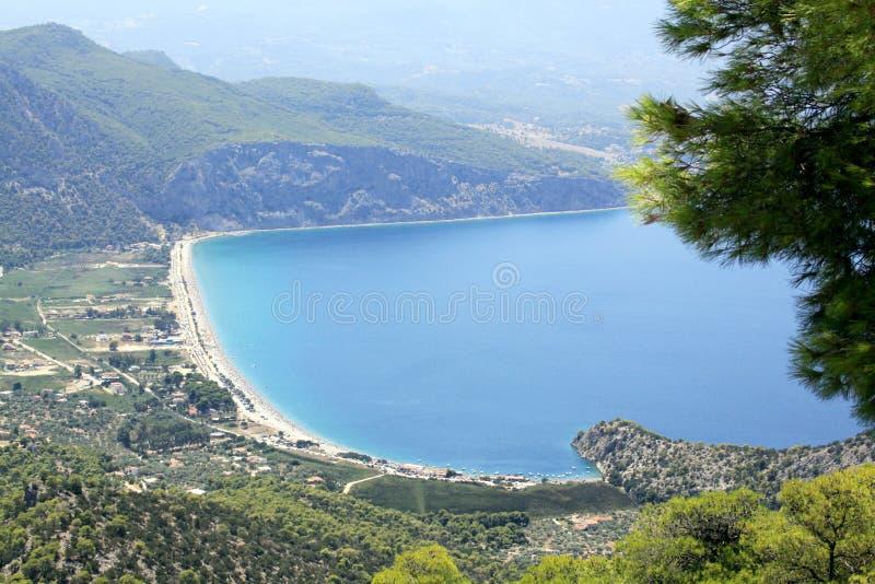 Psatha海滩,雅典,希腊 库存照片