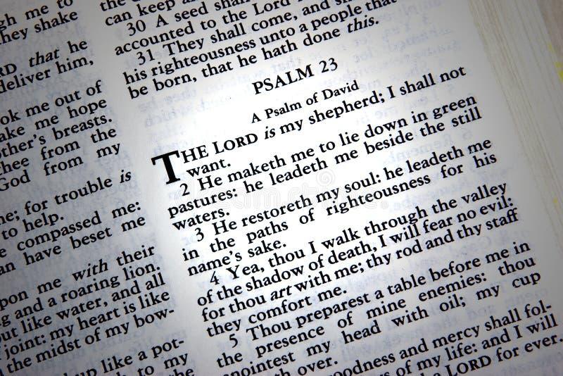 Psaume 23 image stock