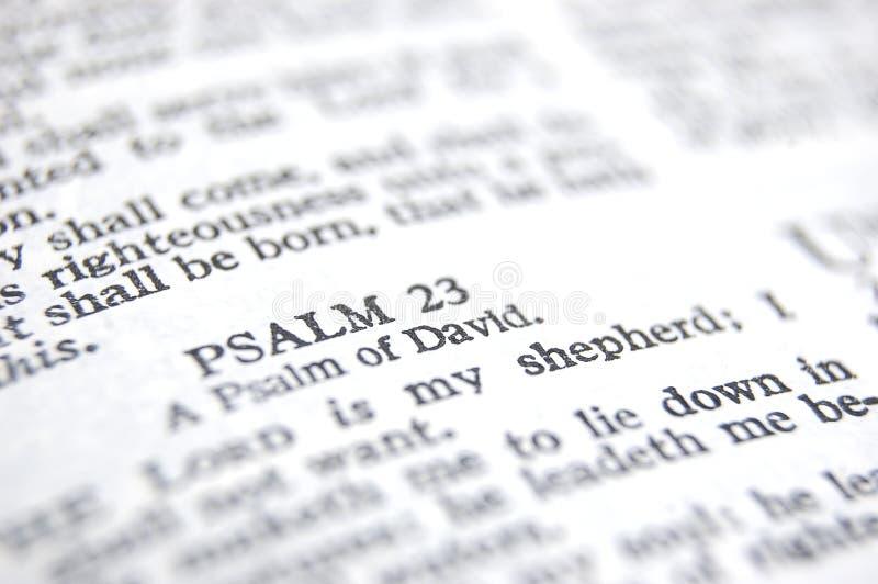 Psaume 23 image libre de droits