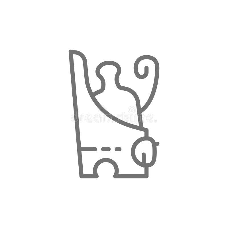 Pschent forntida egyptisk dubbel krona av den Egypten linjen symbol royaltyfri illustrationer