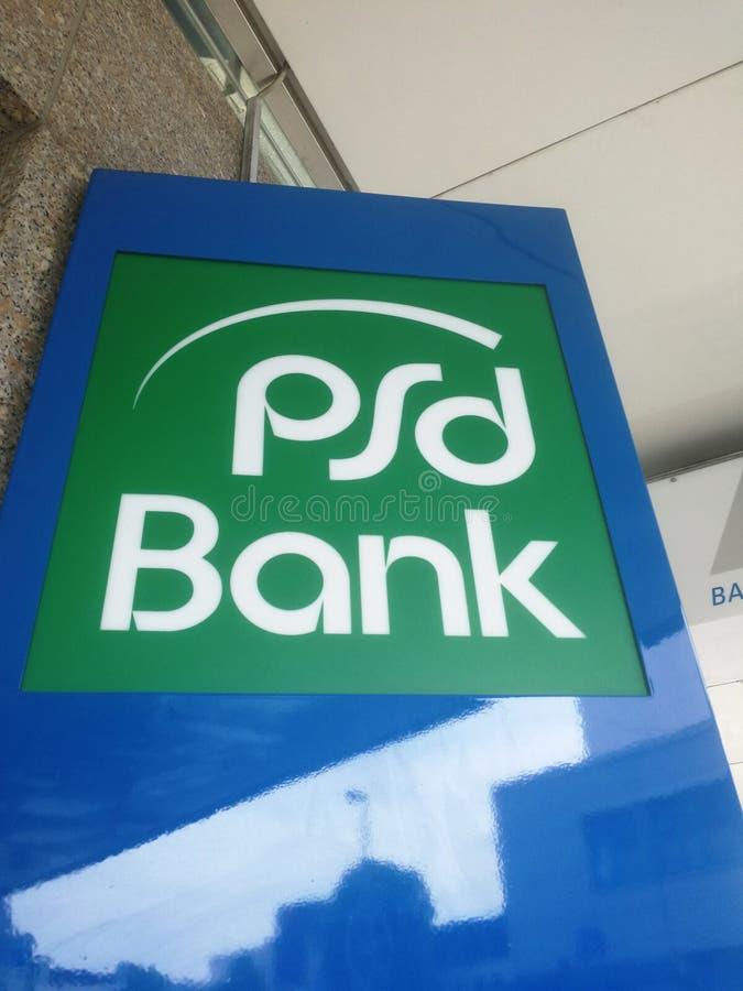 PSD-Bankfiliale Signage lizenzfreies stockfoto