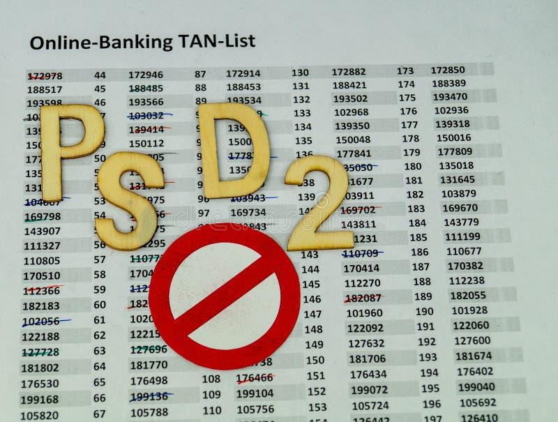 PSD2 - Betalningservice Directment två arkivfoton