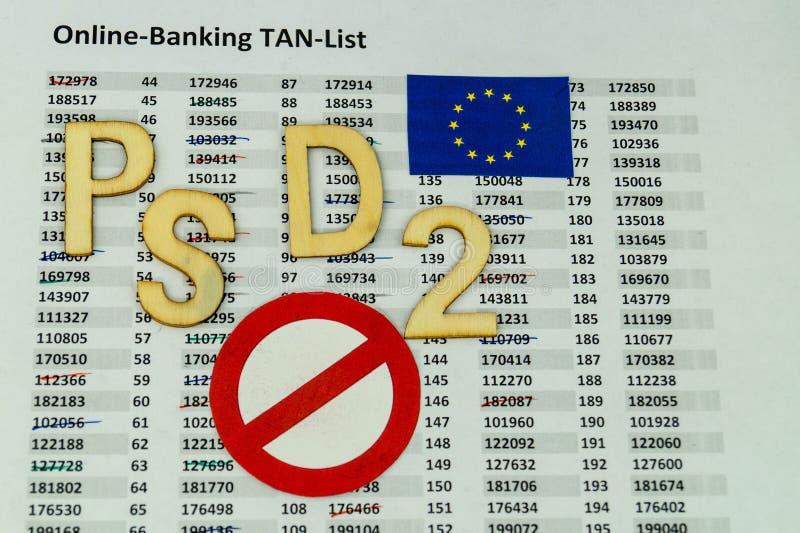 PSD2 - Betalningservice Directment två arkivbilder