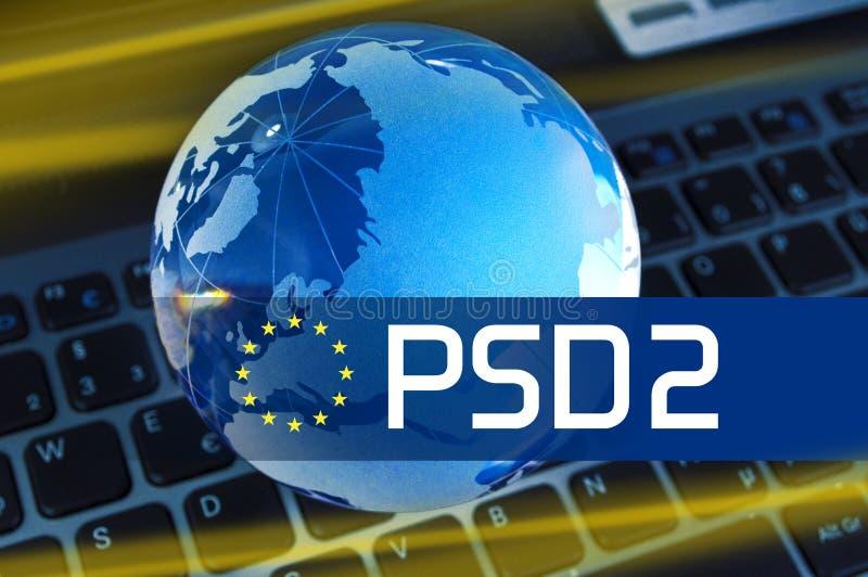 PSD2 - Serviços Directive2 do pagamento imagens de stock