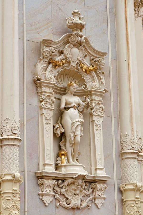 Pseudo-baroque Colonnade, spa Marianske Lazne royalty free stock image
