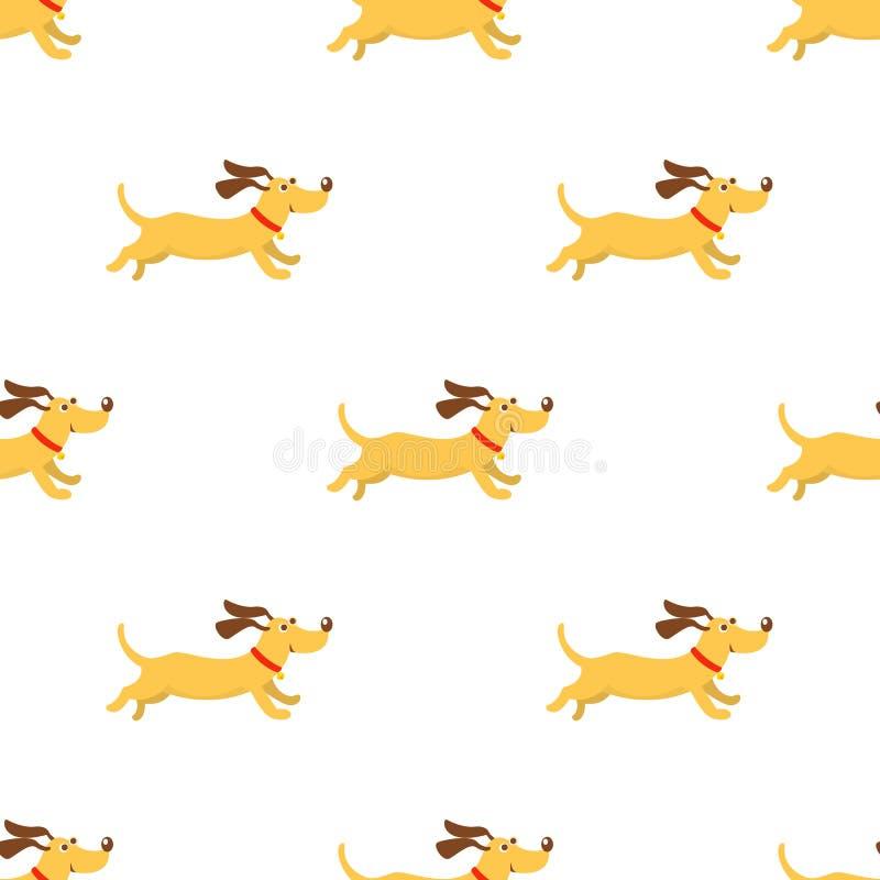 Psi bezszwowy ilustracja wektor