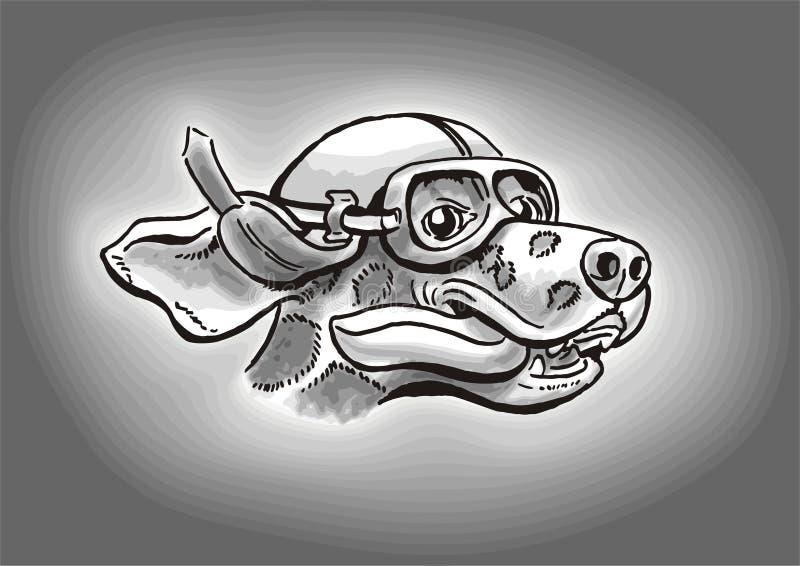 psi dalmatian kierowcy royalty ilustracja